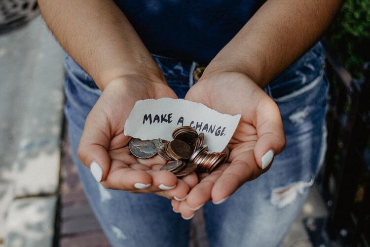 Make a change hands